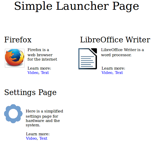 LauncherPage