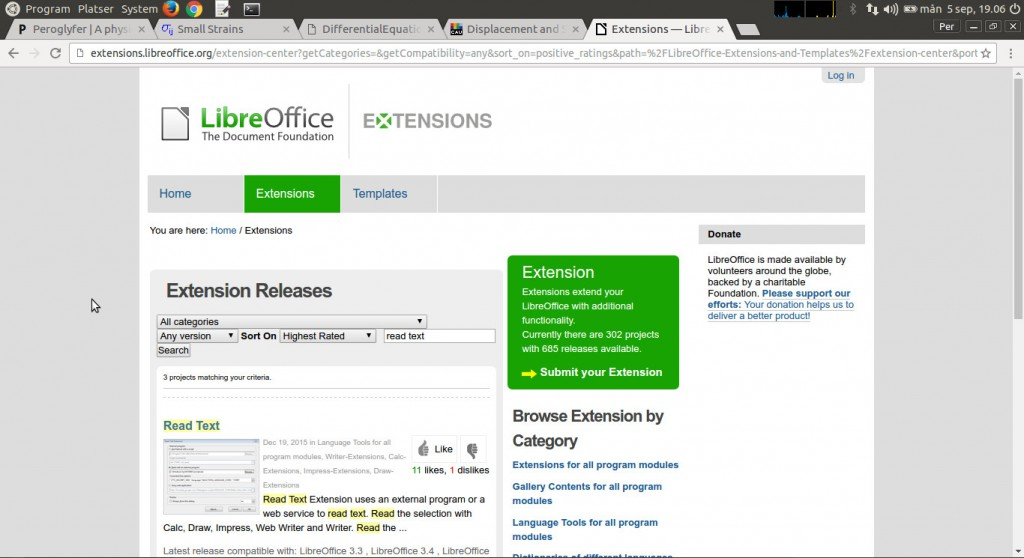 libreofficeReadTextplugin