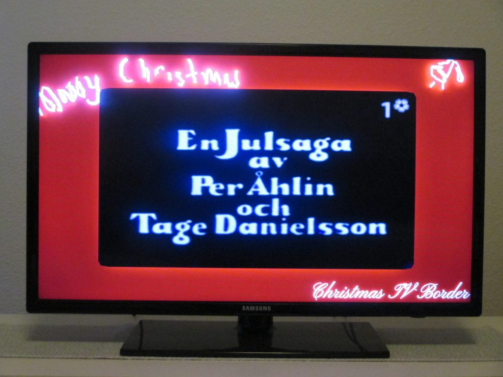 christmas border tv