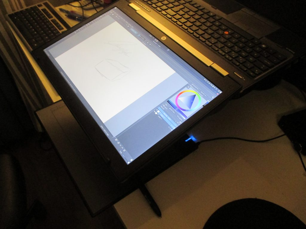drawing setup with a laptop 180