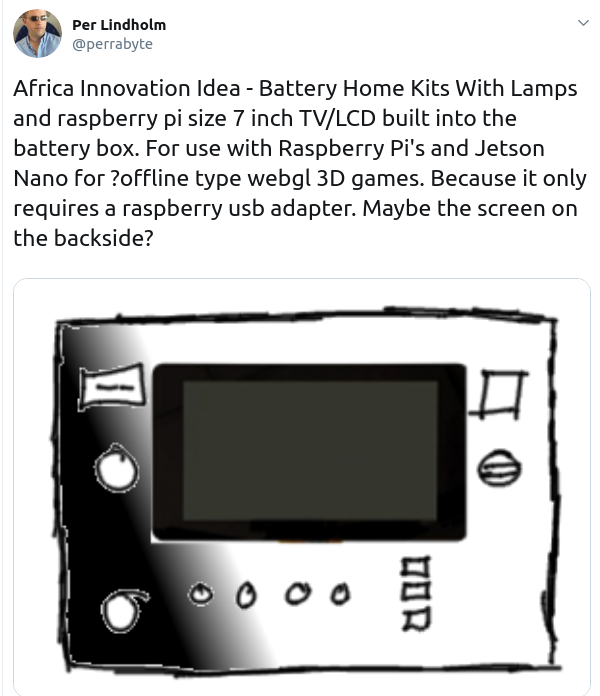 Africa Innovation Idea – Battery Home Kits With Lamps and raspberry